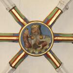 Jakobus- Darstellung in einem Schlusstein, St. Jakobi Kirche Hettstedt
