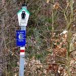 Markierung am Wegesrand